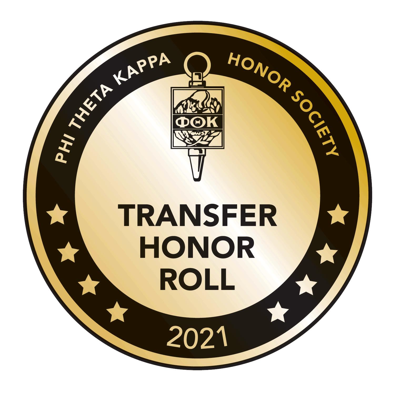 PTK honor society transfer honor roll logo