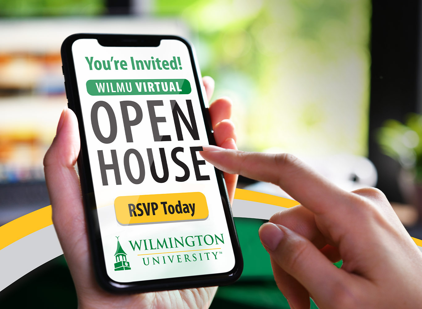phone screen with open house logo