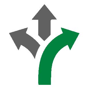 three arrows icon